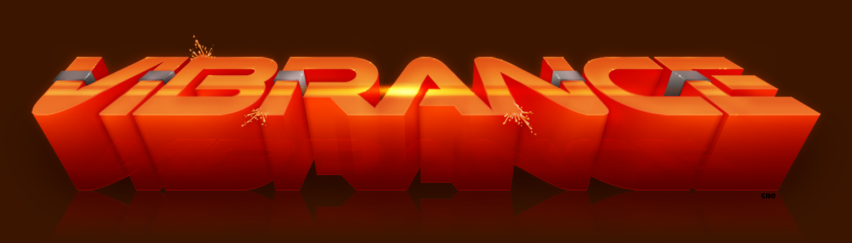 Vibrance logo for the TRSAC 2016 Flash intro