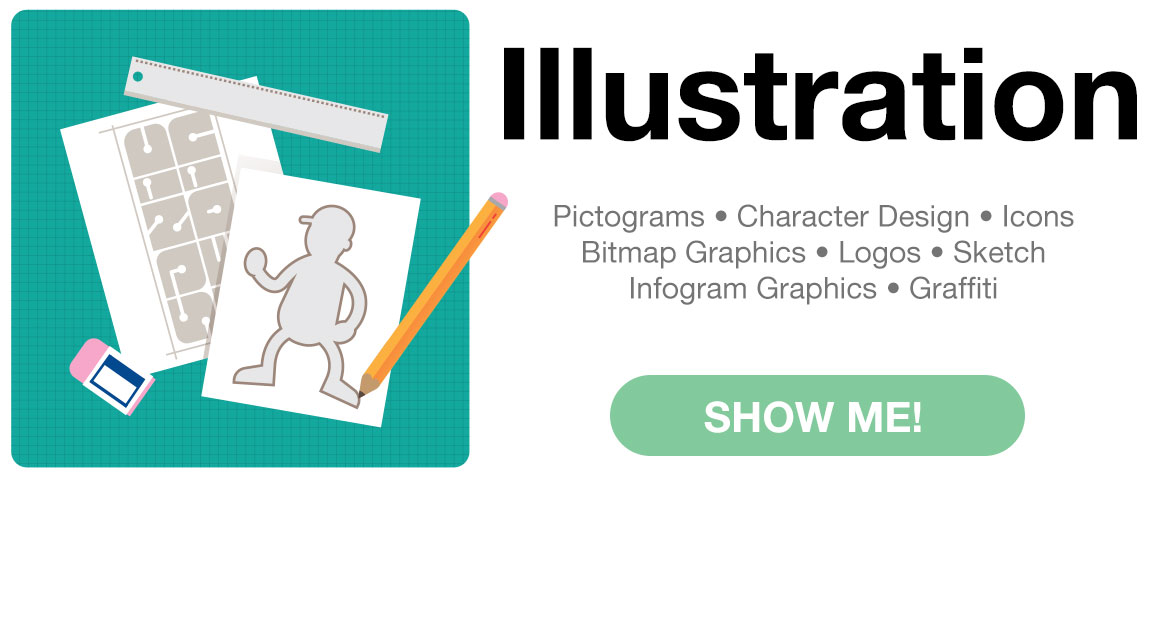 Illustration Pictograms - Character Design - Icons - Bitmap Graphics - Logos - Sketch - Inforgram Graphics - Graffiti