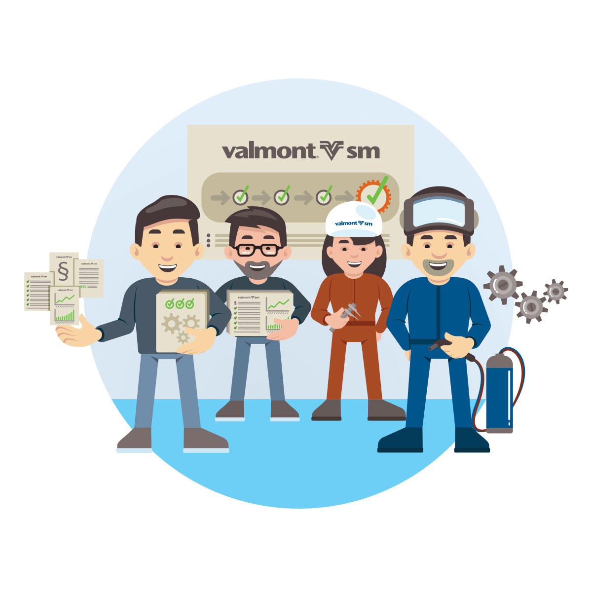 Valmont SM  Illustration Infographic