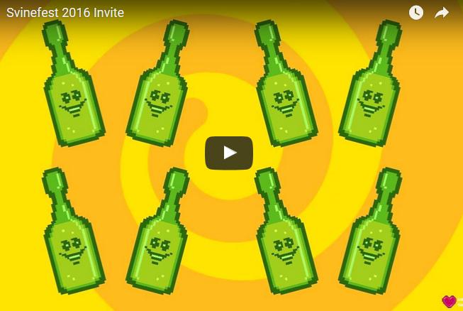 Svinefest 2016 invitation flash intro